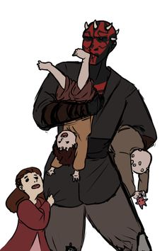 everybody else: draws darth maul as a terrifying master assassin me: draws him as a single father of three Vader Star Wars, Star Wars Boba Fett, Star Wars Rebels, Star Wars Clone Wars, Lego Star Wars, Star Trek, Star Wars Painting, Star Wars Girls, Star Wars Action Figures