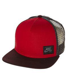 wholesale dealer aea51 fdc9c NIKE SB LOCKUP TRUCKER CAP - GYM RED