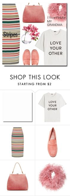 """Pink for my Grandma 💓"" by anne-irene ❤ liked on Polyvore featuring Mother, Rosie Assoulin, Mansur Gavriel, Nanà Firenze and IWearPinkFor"