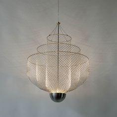 Chandeliers of Chicken Wire by Rick Tegelaar