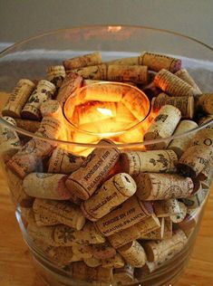 Wine Cork Candle Holder is part of Cork crafts Candle - How to make a wine cork candle holder Wine Cork Candle, Wine Cork Wreath, Wine Corks, Glass Candle, Wine Glass Crafts, Wine Bottle Crafts, Wine Bottles, Wine And Cheese Party, Homemade Wine