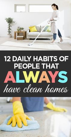 Clean homes, daily habits, clean living, DIY clean, popular pin, cleaning tips…