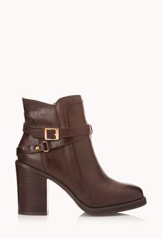 Standout Buckle Booties | FOREVER 21 - 2000050582