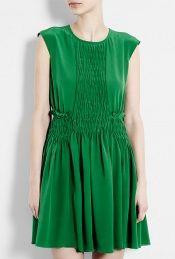 Silk Ruched Dress