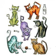 Tim Holtz® Alterations | Sizzix® Framelits™ Die Set - Crazy Cats