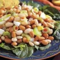 Beans, green olives and eggs (just go easy on the dressing, of course)