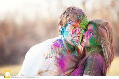 So serious :) Couple Photography, Children Photography, Photography Ideas, Powder Paint Photography, Holi Poster, Holi Colors, Creative Photoshoot Ideas, Couple Painting, Love Photos