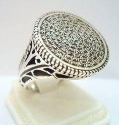 "925 Sterling Silver Men's Ring with ""Al-Asma' Al-Husna"" 99 Names of Allah"