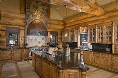 Log kitchen <3
