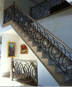 luxury wrought iron railing system for classic staircase