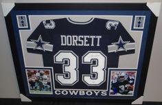 3257ef4f483 Tony Dorsett Signed Cowboys 35x43 Custom Framed Jersey (JSA COA)