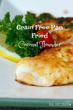 I used to roll flounder in bread crumbs and fry it. Now, I still do that, but the bread crumbs are grain free for Grain Free Pan Fried Coconut Flounder. Clean Eating Recipes, Healthy Recipes, Primal Recipes, Diabetic Recipes, Pan Fried Flounder, Fish Recipes, Seafood Recipes, Flounder Recipes, Large Fries