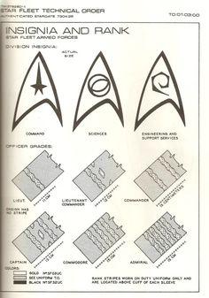 cosplay tutorials Star Trek Insignia Rank Pattern