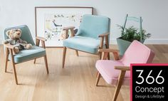 Happy colors :) Lovely Market - News - fauteuil design 366 Concept Milan Furniture, Home Decor Furniture, Kids Furniture, Furniture Design, Retro Furniture, Furniture Inspiration, Interior Inspiration, Slider, Love Chair