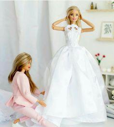 Barbie Doll House, Barbie Toys, Barbie Life, Barbie And Ken, Barbie Bridal, Barbie Wedding, Barbie Fashionista Dolls, Diy Barbie Clothes, Dress Up Dolls