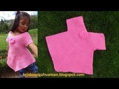 Blusa fácil de hacer tejida a crochet o ganchillo - TEJIDOS OLGA HUAMAN - YouTube