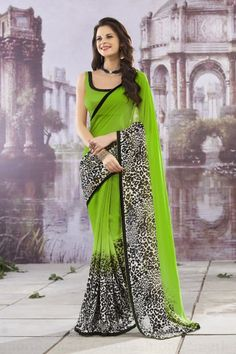 Indian Designer's Multicolor Saree & Wearing Style