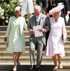 HRH Duke and Duchess of Sussex wedding. Prince Charles and Camilla, with lovely Doria Ragland, mother of the beautiful bride.  5.19.18