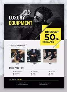 LUXURY - Sale Product Flyer by indotitas on Envato Elements Graphic Design Flyer, Flyer Design Templates, Graphic Design Tutorials, Ad Design, Graphic Design Inspiration, Flyer Template, Luxury Sale, Photoshop Illustrator, Sale Poster