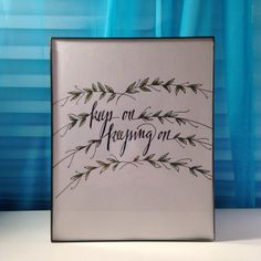 keep on keeping on by TheCreativeTypes on Etsy