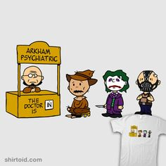 """Arkham Psychiatric"" by Baz A mashup between Nolan's Batman trilogy in the style of the classic Peanuts comics!"