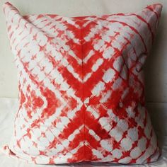 Abstract Itajime Technique Red Tie Dyed Red & white Cushion Covers Interior Home Sofa Cushions Christmas Gifts Her Shibori Gypsy Red Pillows Red Pillows, White Cushions, Boho Pillows, Cushions On Sofa, Shibori, Tie Dye Bags, White Cushion Covers, Christmas Ties, Tie Dye Techniques