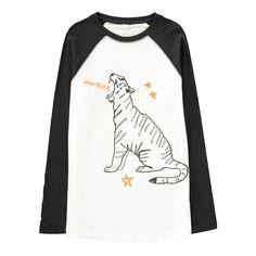 T-shirt Bicolore Tigre Stella McCartney Kids Teenager Bambino- Una vasta  scelta di Moda f8e3c3f48dd