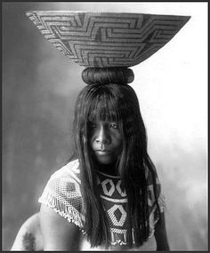 Portrait of Yellow Feather, Maricopa woman. 1899.