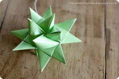 DIY: paper star    Made a bunch of these in 5th grade and LOVED them. We'd dip them in paraffin and sometimes even add glitter.