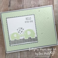 Stampinup! Stampin'Up! Little Elephant Stamp Set and Elephant Builder Punch Baby Card by Lori Pinto1