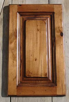 Knotty Alder With Cedar Stain Glazed And Distressed