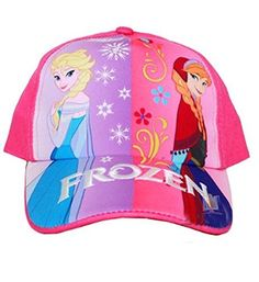 055449a70d7 Frozen Elsa and Anna Girls Baseball Cap Hat. Tailored from soft cotton for  comfort and durability. Velcro back for perfect fit.