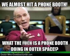 Phone Box in Outer Space