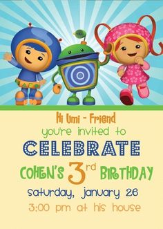 """Photo 1 of 6: Team Umizoomi / Birthday """"Cohen's 3rd birthday"""" 