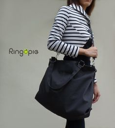 Sale 15%OFF-Charcoal Gray with handle and by ringopie on Etsy