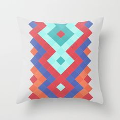 #society6 #pillow #design #decor #home #cojin #triangle #pattern #colorful #etnic