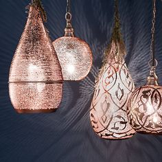 These pendant lights are gorgeous and I love them. I don't think I can afford them without breaking the law to raise the cash. Sure are pretty...