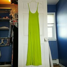 Maxi Dress Absolutely a must have! Super sexy maxi Dress with thigh high slit. Very stretchy and super comfy. Like second skin. Color looks gorgeous on tan skin. Pool party perfect. Never worn. Blue Life Dresses Maxi