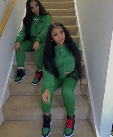 Baddie Outfits Casual, Swag Outfits For Girls, Cute Swag Outfits, Girl Outfits, Fashion Outfits, 2000s Fashion, Matching Outfits Best Friend, Best Friend Outfits, Doja Cat