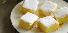 Lemon and vanilla custard squares