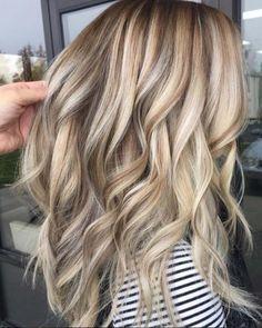 Image result for blonde highlights on light brown hair