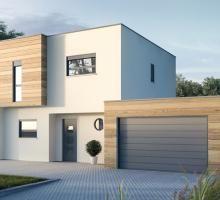 faade blanche bois - Maison Moderne Blanche