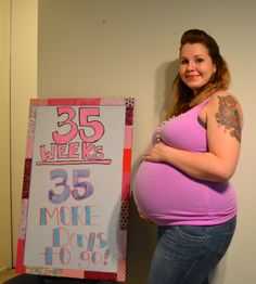 35 more days! Pregnancy Countdown, Pregnancy Tracker, How Big Is Baby, Cover, Day, Blanket