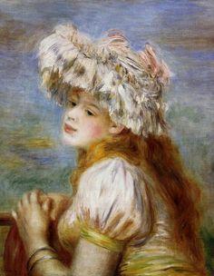 Girl in a Lace Hat.Pierre-Auguste Renoir (1841 - 1919)