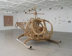 Shannon Goff built a full size helicopter out of corrugated cardboard box