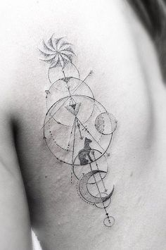 A tattoo that's impressively creative and beautifully tasteful.