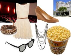 """First Date: movie date"" by eviefg ❤ liked on Polyvore"
