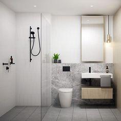minimalist bathroom floating shelves design ideas for you 1 Bathroom Shower Heads, Bathroom Decor Sets, Bathroom Trends, Chic Bathrooms, Bathroom Layout, Modern Bathroom Design, Bathroom Interior Design, Bathroom Black, Small Bathrooms
