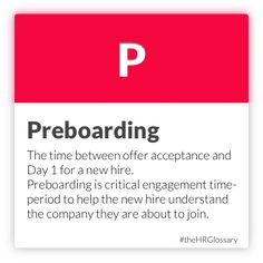 Tydy's HR Glossary - Preboarding