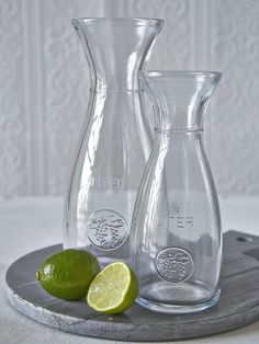 Glass Carafes ~ $4.50 small - $6.00 large at nordichouse.co.uk
